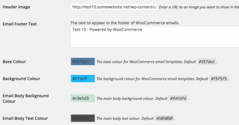 WooCommerce default email customization
