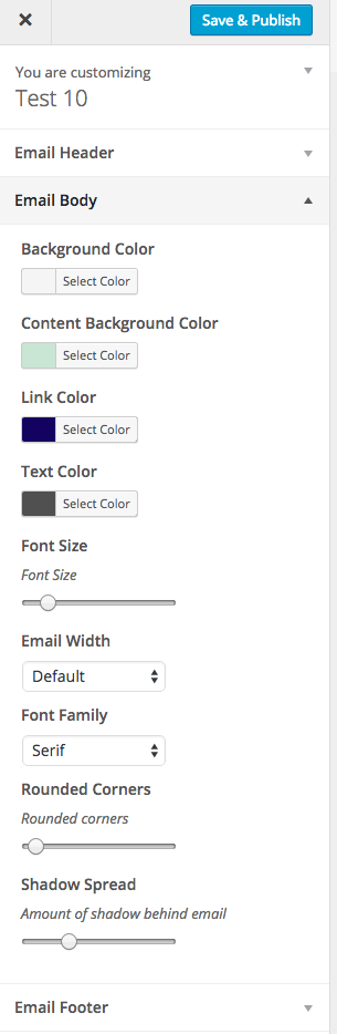 WooCommerce Email Customizer Sidebar