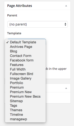How to choose a WordPress page template