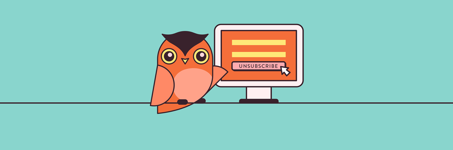Illustration of an owl and a computer.