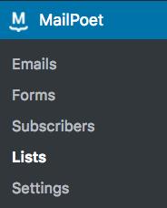 Lists Page