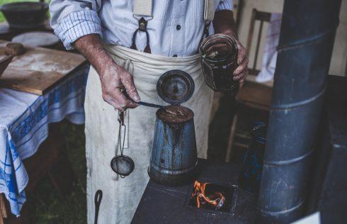 Man making materials.