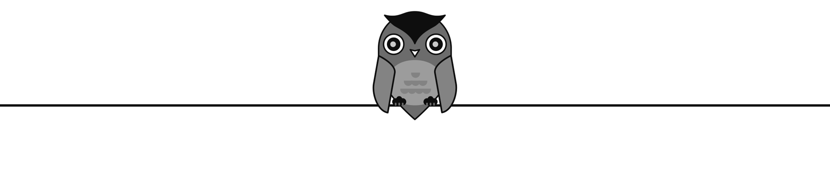 Illustration of an owl on a wire.