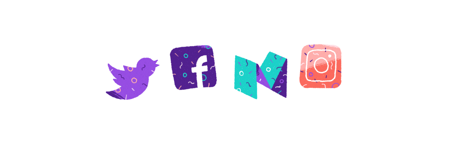 Multiple social media channels illustration.