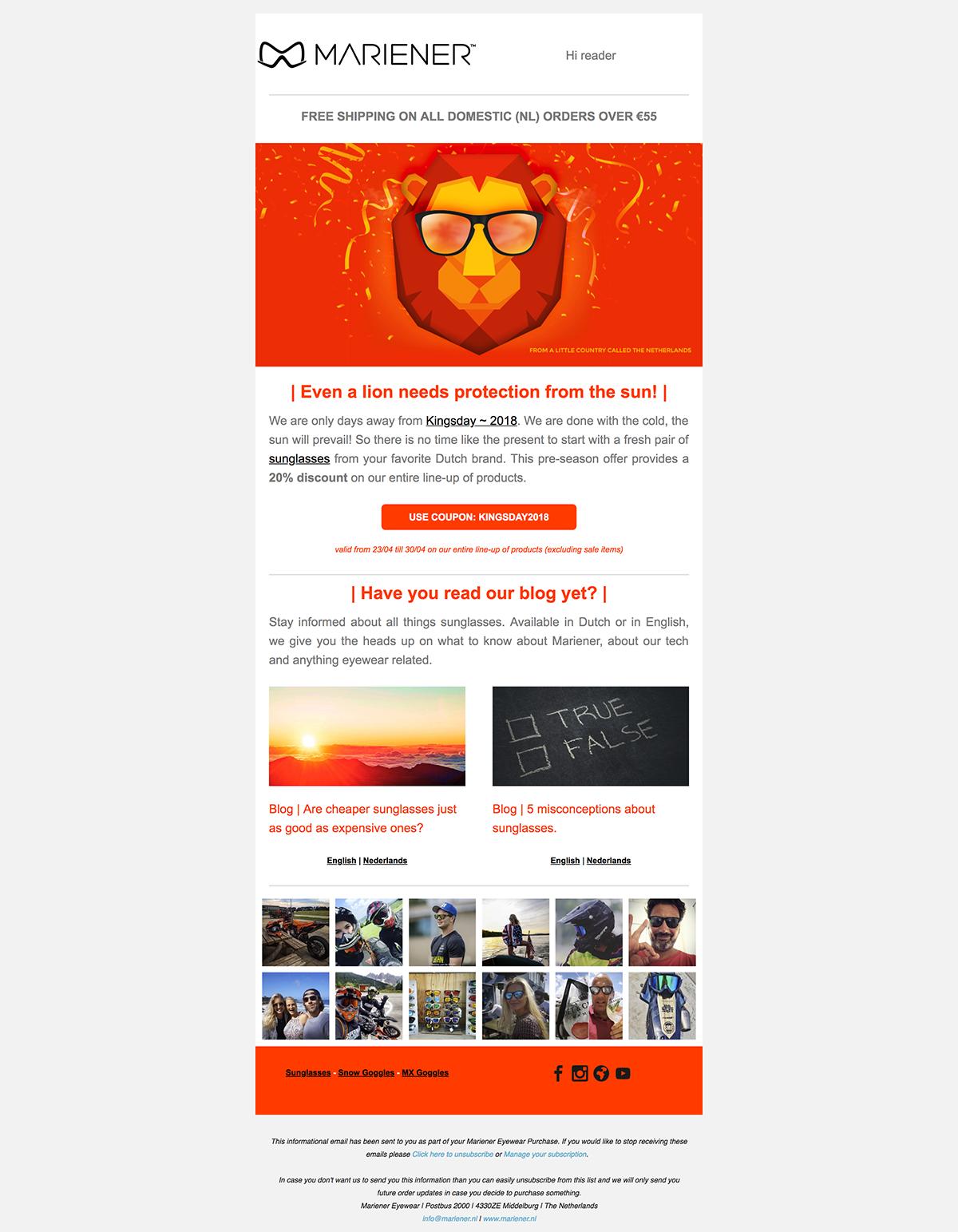 Mariener email example.