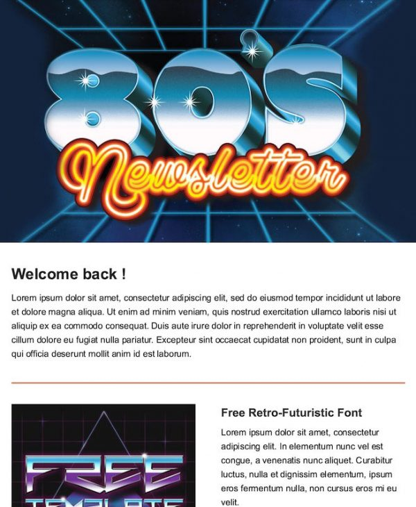 retro email template