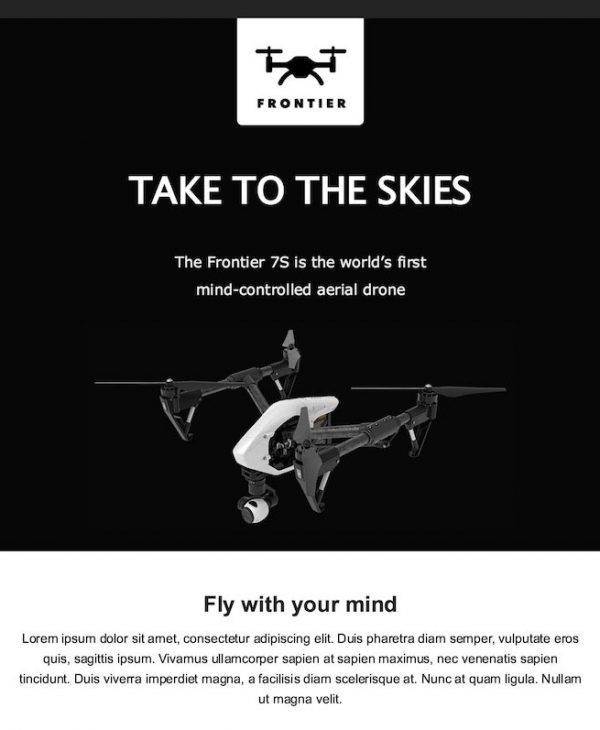 drone email template