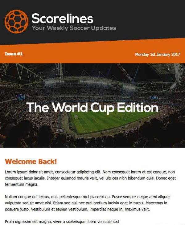 world cup email template