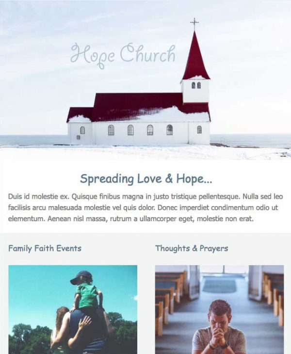 church email template