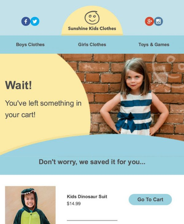 kids clothing email template