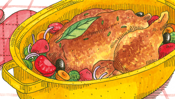 Illustration of chicken-pot.