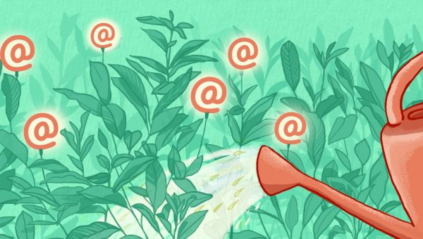 Watering email flowers