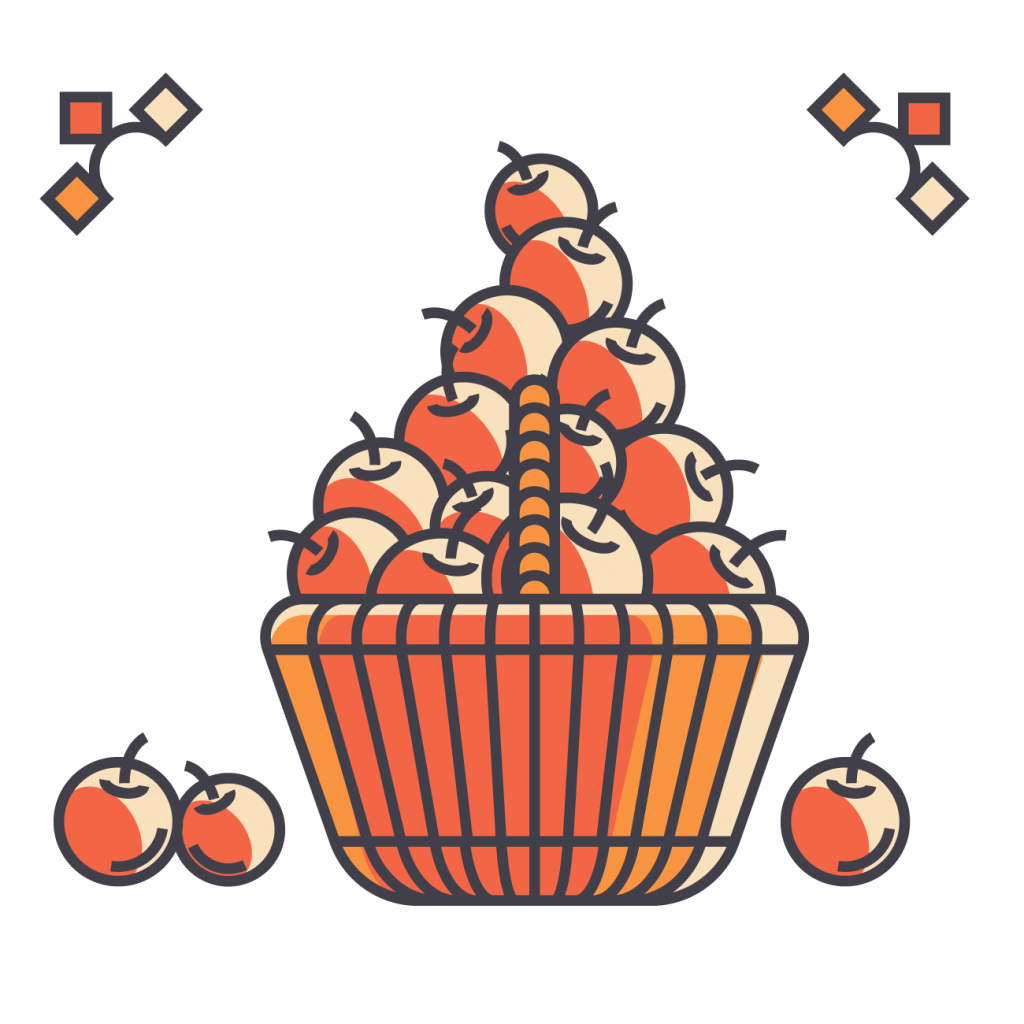 Basket of apples.