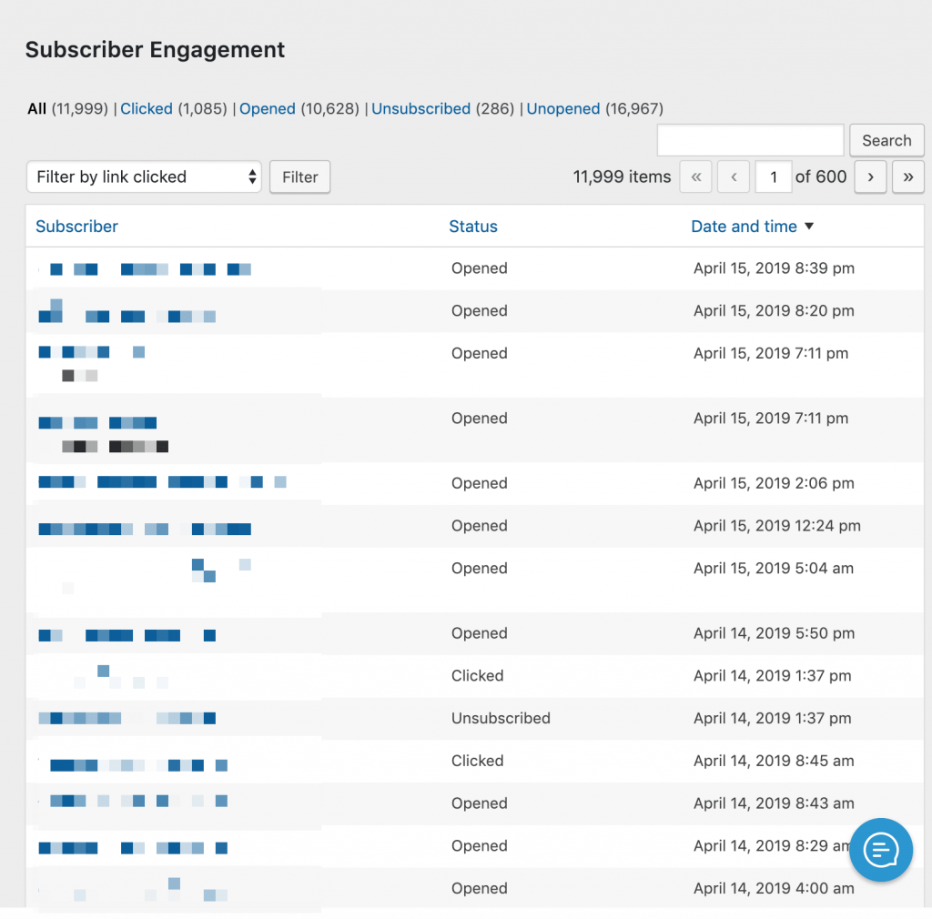 Example of subscriber engagement from the campaign.