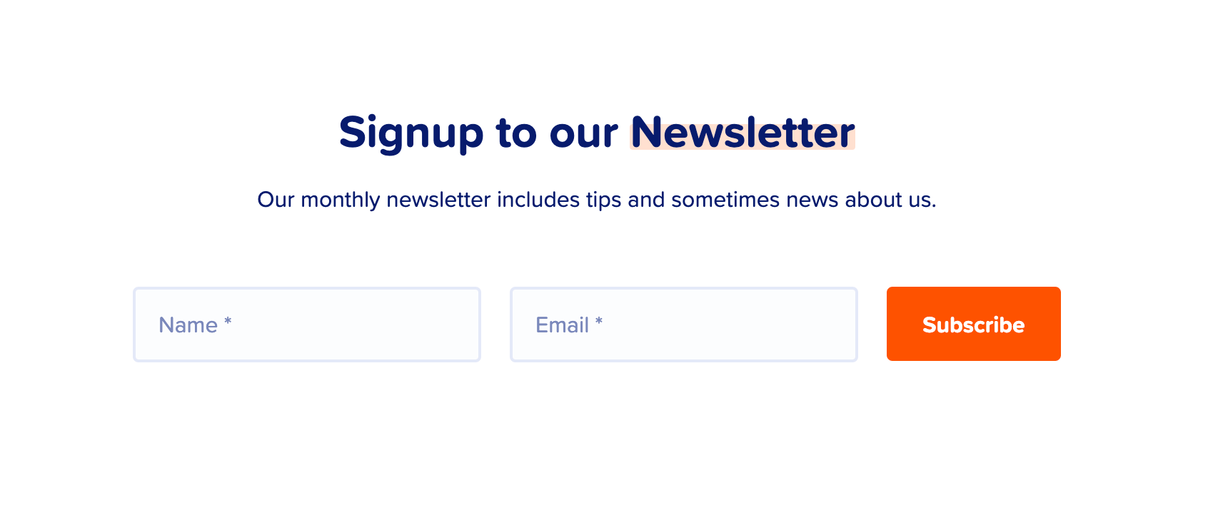 example of newsletter subscription box mailpoet