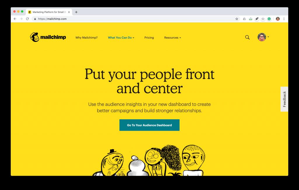 mailchimp.com landing page