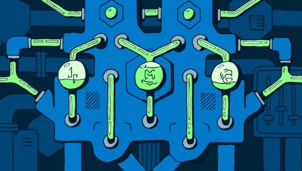 illustration of machines & automation