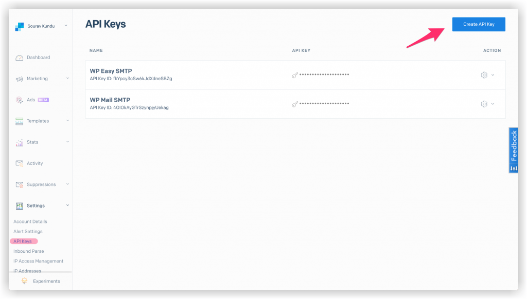 Configuring SendGrid API key