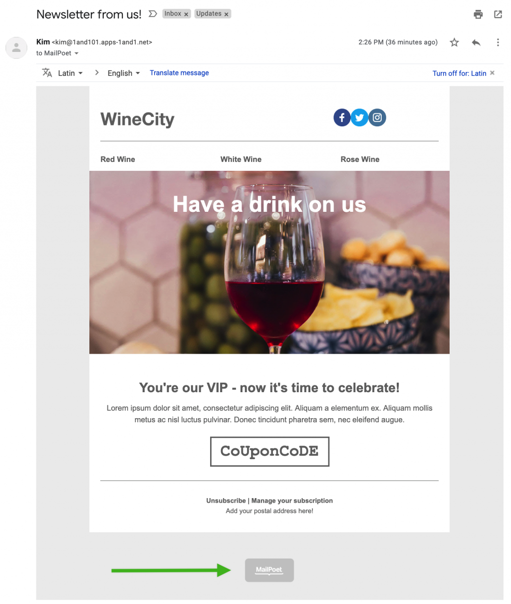 WineCity template.