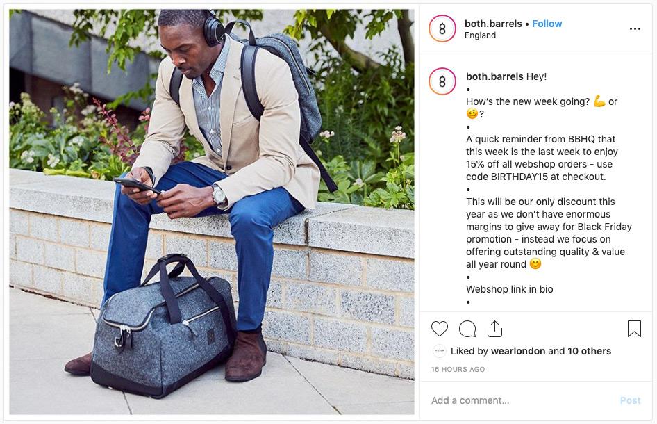 Both Barrels Instagram post.