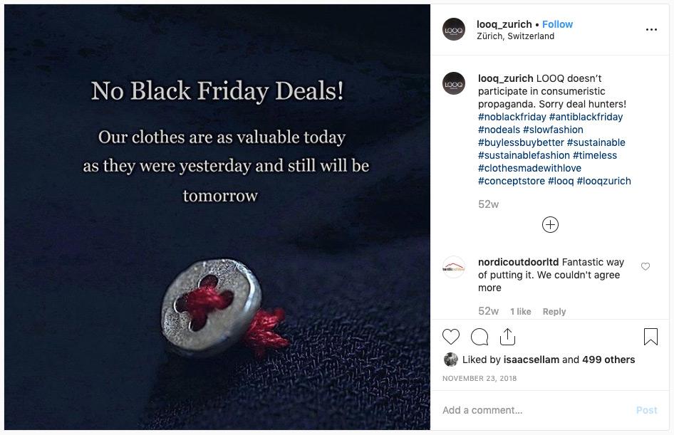LOOQ Zurich Instagram post.
