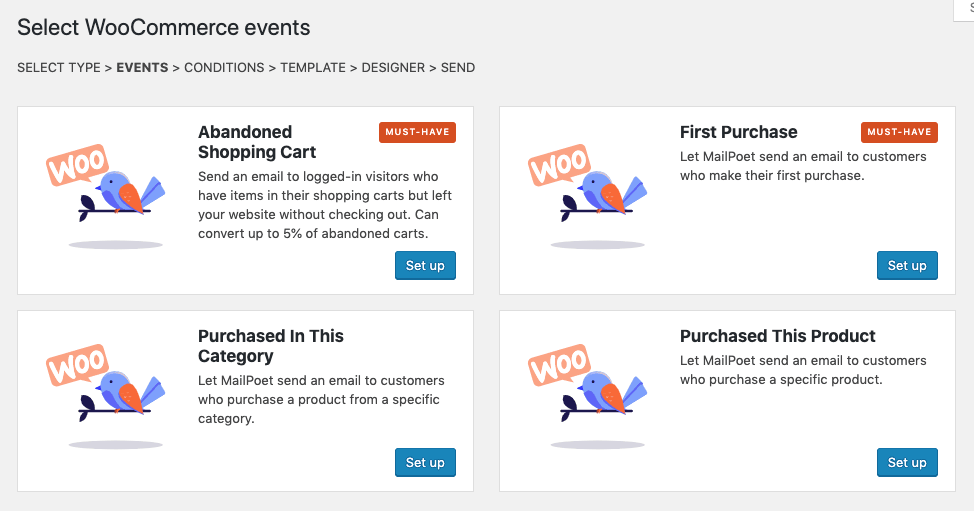 WooCommerce email types