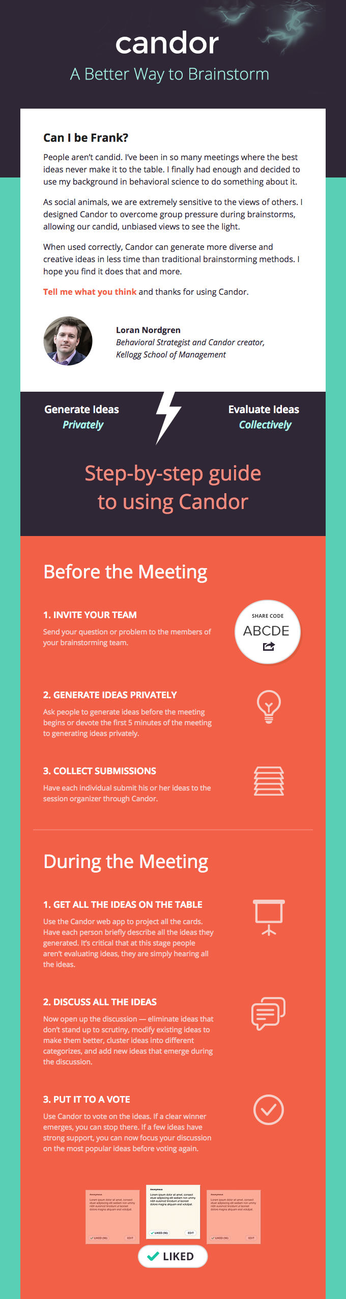 Example of Candor welcome email.