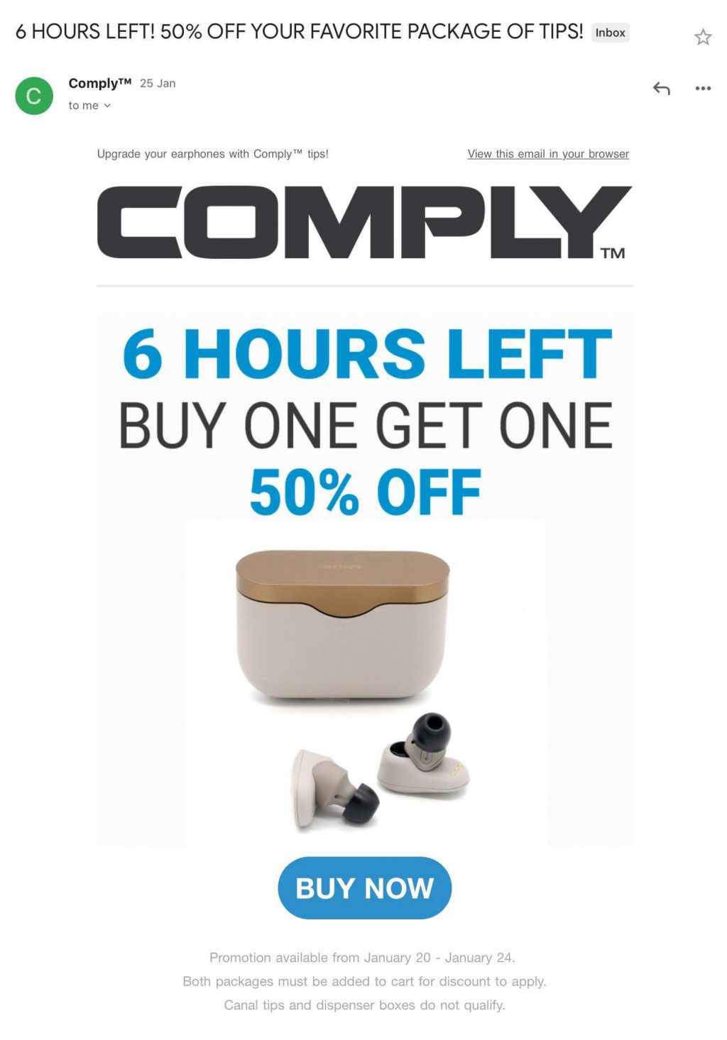 comply engagement email