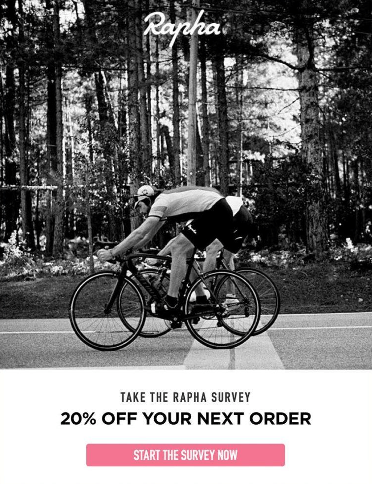 rapha survey email