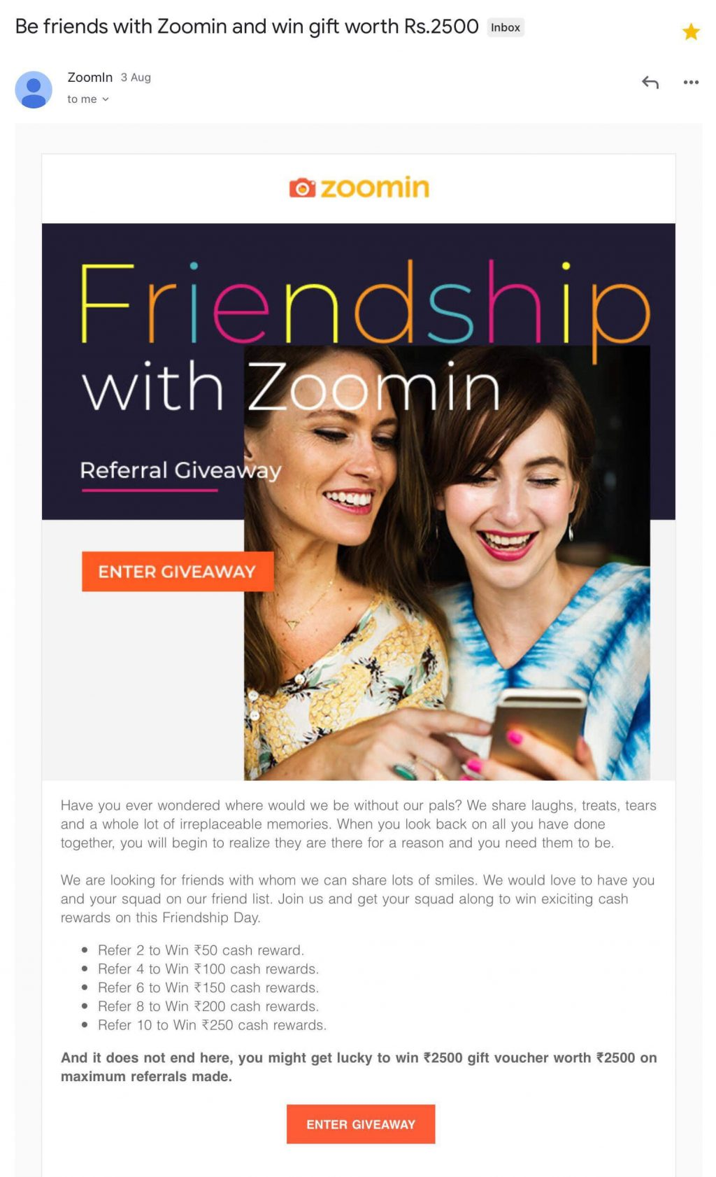 zoomin referral email
