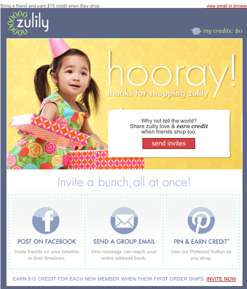zulilly first-purchase email