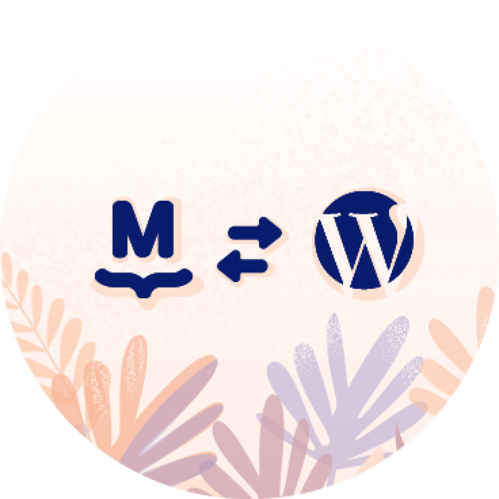 Illustration of MailPoet and WordPress logos