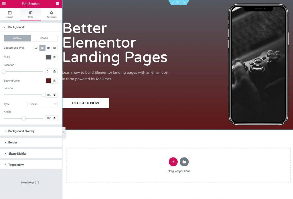 Add content widgets