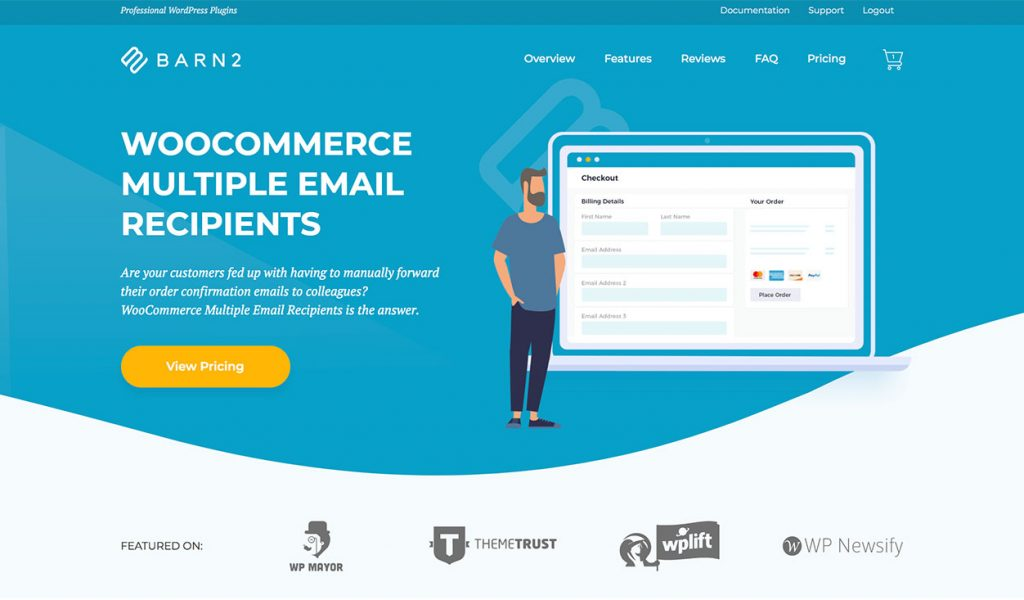 WooCommerce Multiple Email Recipients plugin from Barn2