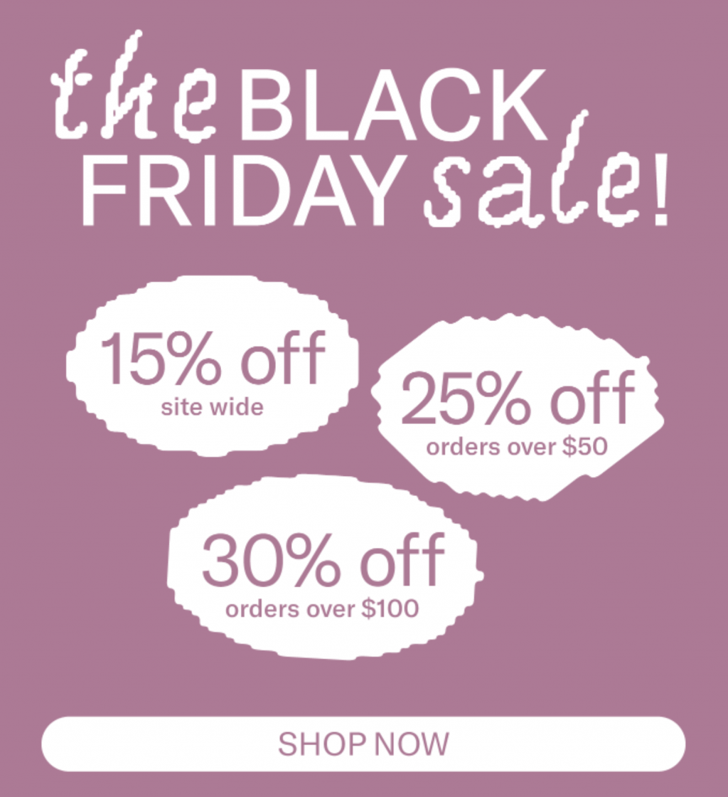 Black Friday and Cyber Monday email examples: Baggu