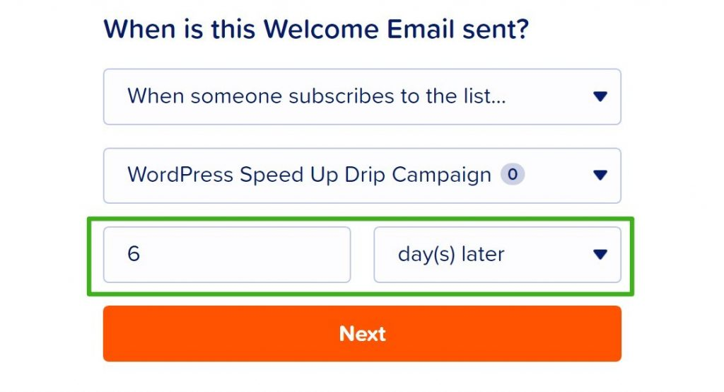 Configure another drip email
