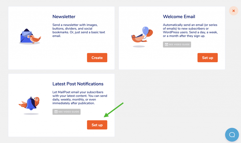 Step 2: Select Latest Post Notifications