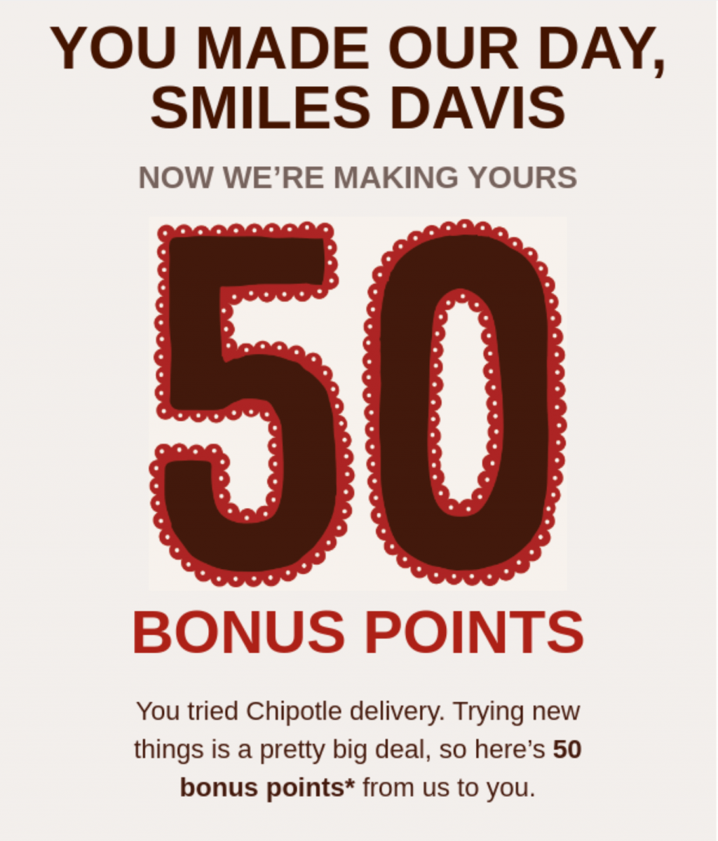 Chipotle points