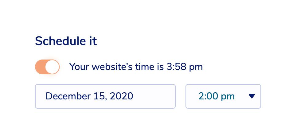 Email scheduling in MailPoet