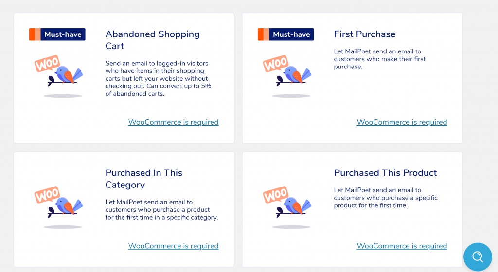 WooCommerce emails in MailPoet