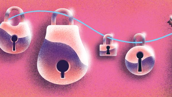 illustration of padlocks