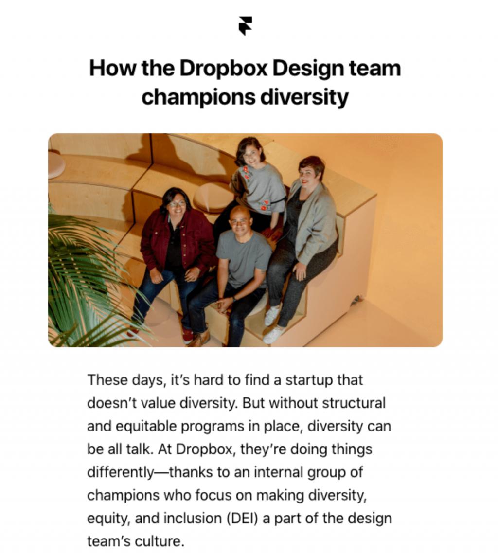 Email marketing for Gen Z: Dropbox Diversity Practices