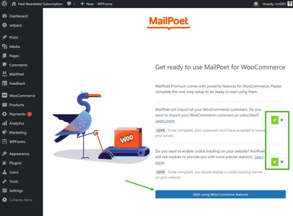 MailPoet WooCommerce integration