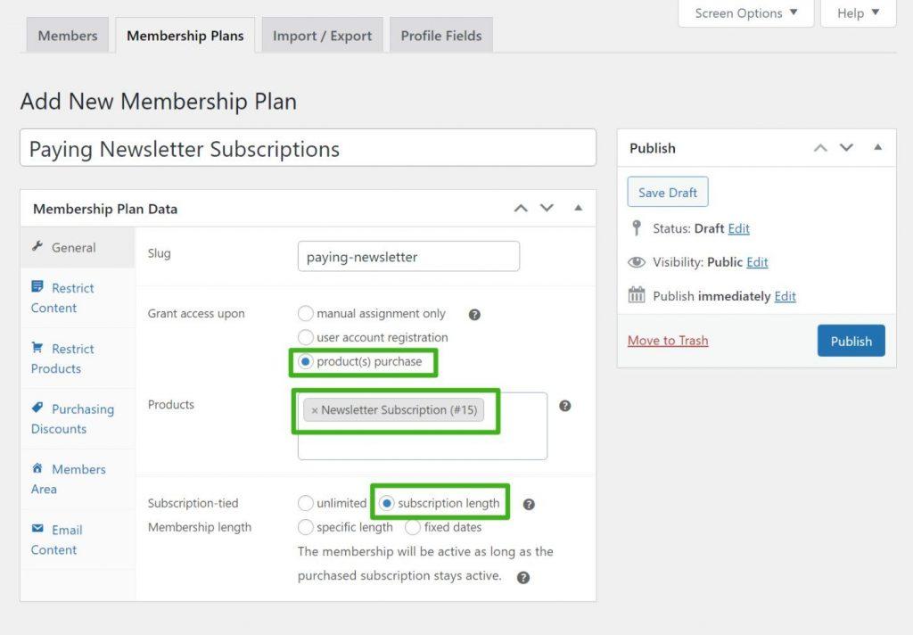 Membership rules