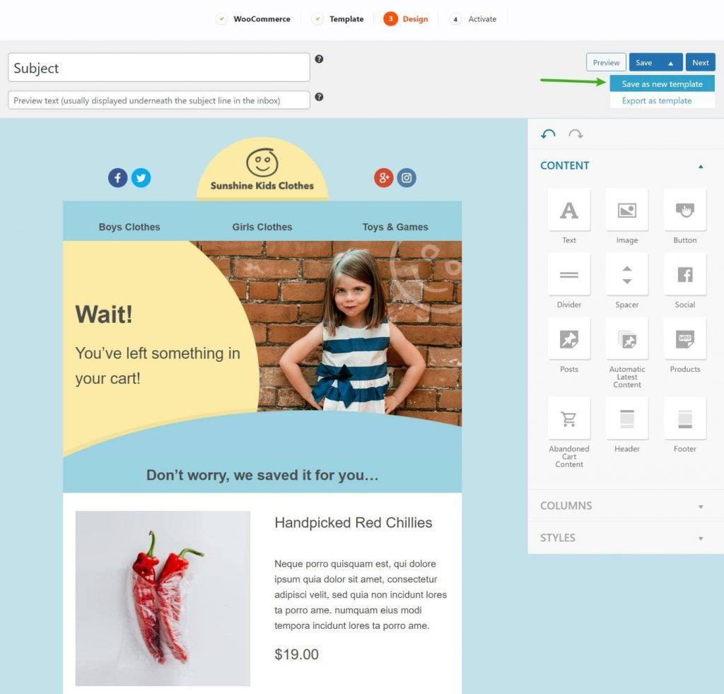 MailPoet email builder