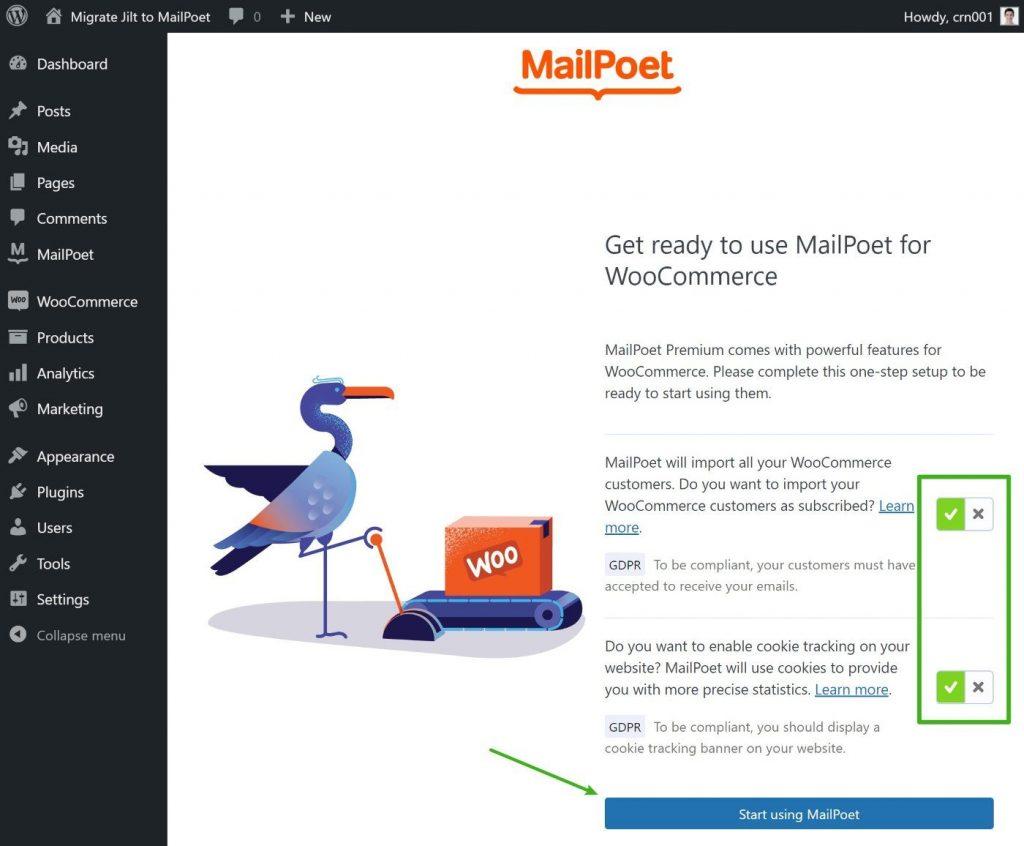 MailPoet WooCommerce sync