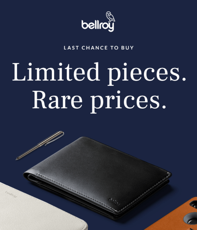 How to Promote Your Sales With Email Marketing: Bellroy sales email